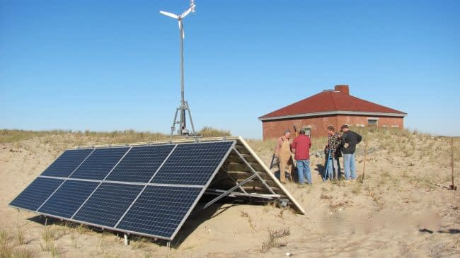 Race Point Off-Grid solar and wind energy systems