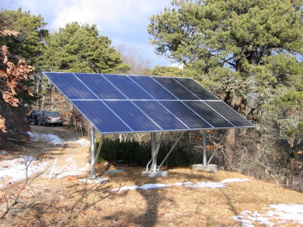Pole Mounted Solar Array