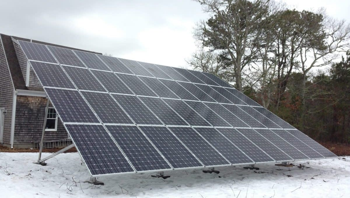 Residential Solar Ground Mount System in Harwich